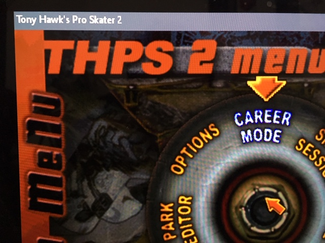 THPS 2 before pic, with title bar